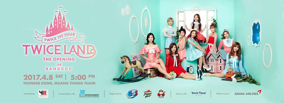 [Final FB COVER PAGE] TWICE 1st TOUR 'TWICELAND' – THE OPENING – IN BANGKOK