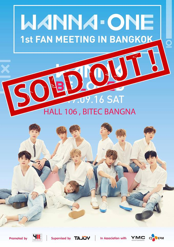 [SOLD OUT Poster] WANNA ONE 1st Fan Meeting in Bangkok – WANNA Be LovEd