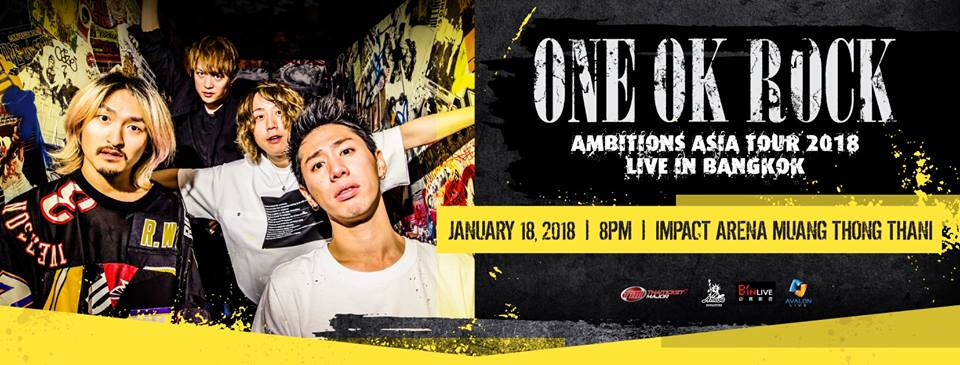 [Cover-Photo-V2] ONE OK ROCK AMBITIONS ASIA TOUR 2018 Live in Bangkok