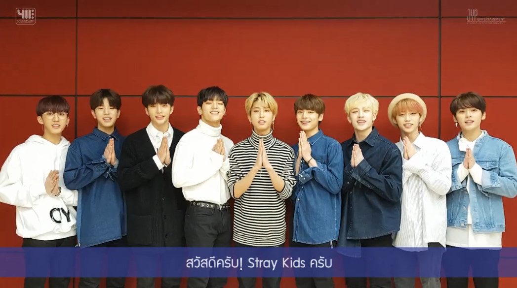 Stray Kids greeting messages to Thai Fans (1)