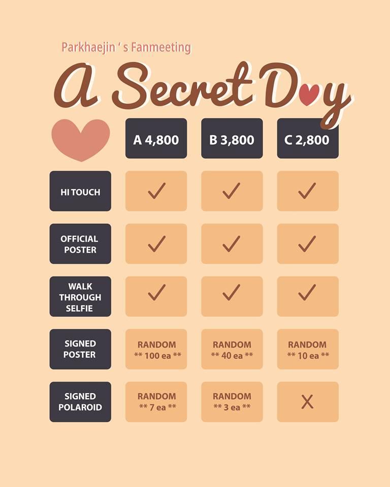 """Parkhaejin's Fanmeeting A Secret Day"""